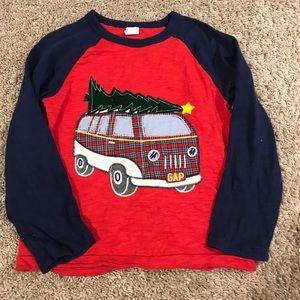 GAP long sleeve christmas tree shirt